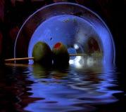 отражения оливок martini Стоковые Фотографии RF