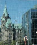 отражения парламента стоковые фотографии rf
