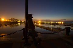 Отражения последнего вечера Стоковое фото RF