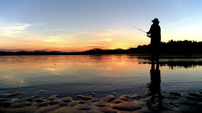 Отражения рыбной ловли Стоковое Изображение RF