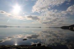 Отражения света в озере 3 шпаг стоковое изображение rf