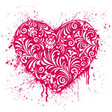 отражения сердца предпосылки 3d представляют белизну Стоковые Изображения RF