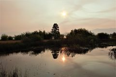 Отражения солнечного света на Лаке Таюое стоковые фотографии rf