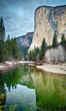 Отражения El Capitan Стоковое Изображение