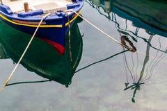 Отражения Fiskardo, Kefalonia, Греция Стоковое Фото