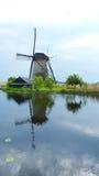 Отражения Kinderdijk Стоковое фото RF