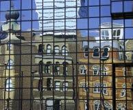 отражения london стоковое изображение rf