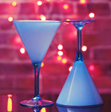 отражения martini стекел Стоковое Фото