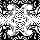 Отраженная конспектом предпосылка вортекса, картина Спирально monochrom иллюстрация вектора