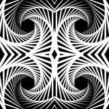 Отраженная конспектом предпосылка вортекса, картина Спирально monochrom Стоковые Фотографии RF