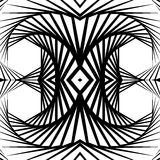 Отраженная конспектом предпосылка вортекса, картина Спирально monochrom Стоковое Фото