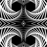 Отраженная конспектом предпосылка вортекса, картина Спирально monochrom Стоковые Изображения