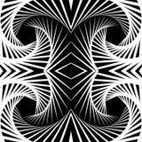 Отраженная конспектом предпосылка вортекса, картина Спирально monochrom Стоковое Изображение RF