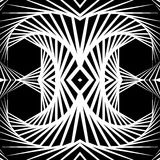 Отраженная конспектом предпосылка вортекса, картина Спирально monochrom Стоковое фото RF