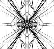 Отраженная решетка, цепляет абстрактные геометрические картину/элемент Стоковая Фотография