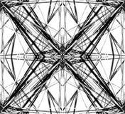 Отраженная решетка, цепляет абстрактные геометрические картину/элемент Стоковые Изображения RF