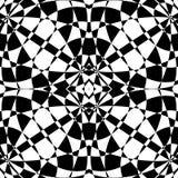Отраженная симметричная картина Геометрическая monochrome предпосылка T иллюстрация вектора