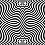 Отраженная симметричная картина с концентрическими кругами Абстрактный m Стоковое Изображение