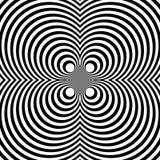 Отраженная симметричная картина с концентрическими кругами Абстрактный m Стоковая Фотография