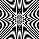 Отраженная симметричная картина с концентрическими кругами Абстрактный m Стоковые Изображения RF