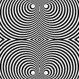 Отраженная симметричная картина с концентрическими кругами Абстрактный m Стоковое Фото