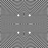 Отраженная симметричная картина с концентрическими кругами Абстрактный m иллюстрация вектора