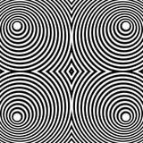 Отраженная симметричная картина с концентрическими кругами Абстрактный m иллюстрация штока