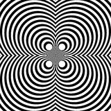 Отраженная симметричная картина с концентрическими кругами Абстрактный m бесплатная иллюстрация