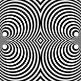 Отраженная симметричная картина с концентрическими кругами Абстрактный m Стоковое Изображение RF