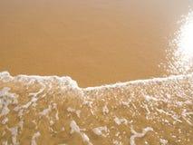 отраженное пляжем солнце песка влажное Стоковая Фотография