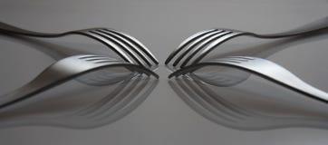 отраженные вилки стоковое изображение