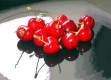 отраженные вишни Стоковые Фото
