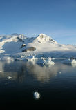отраженные горы ледников Стоковое Изображение