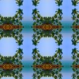 Отраженные пальмы стоковые фотографии rf