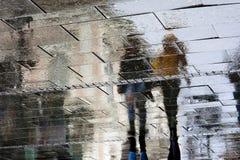 Отраженные тени на дождливый день Стоковое Изображение