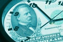 отраженный доллар часов счета Стоковые Изображения