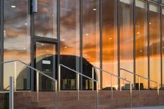 отраженный заход солнца Стоковое фото RF