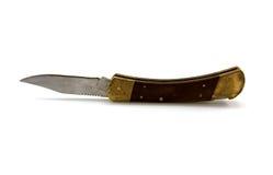 отрегулируйте старый раскрытый penknife деревянный Стоковое фото RF