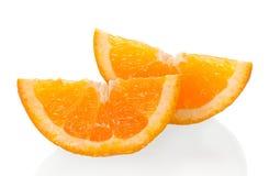 Отрежьте апельсин на белизне Стоковое фото RF