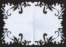 отрежьте бумагу рамки Стоковая Фотография RF