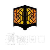 Отрежьте вне шаблон для лампы Стоковые Изображения
