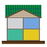 Отрежьте в векторе интерьеров дома Стоковое Изображение RF