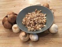Отрежьте грибы Стоковое Изображение RF