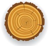 отрежьте деревянное иллюстрация штока