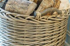 Отрежьте деревянные журналы для камина Стоковые Фото