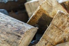 Отрежьте деревянные журналы для камина Стоковая Фотография
