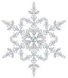 отрежьте диаманты различные сделал снежинку Стоковое Фото