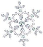 отрежьте диаманты различные сделал снежинку Стоковая Фотография RF