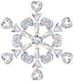отрежьте диаманты различные сделал снежинку Стоковое фото RF