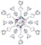 отрежьте диаманты различные сделал снежинку Стоковое Изображение